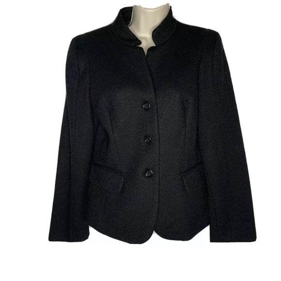 Focus 2000 Black 10 Three button blazer Wool blend